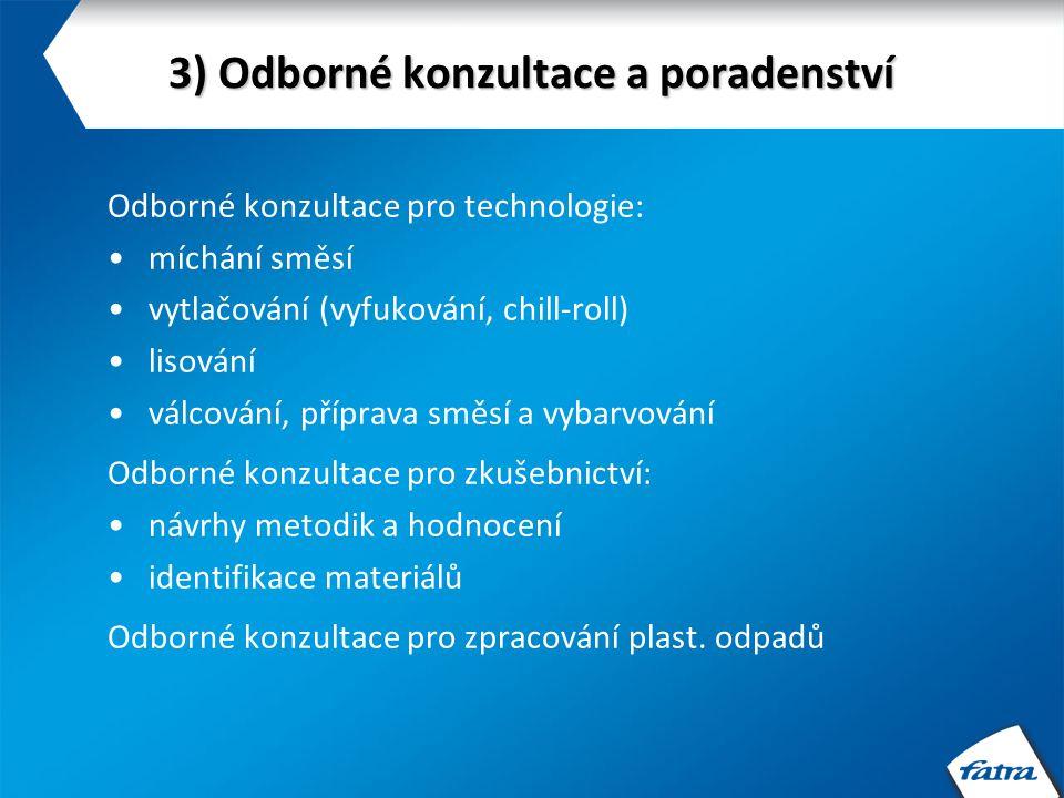 3) Odborné konzultace a poradenství