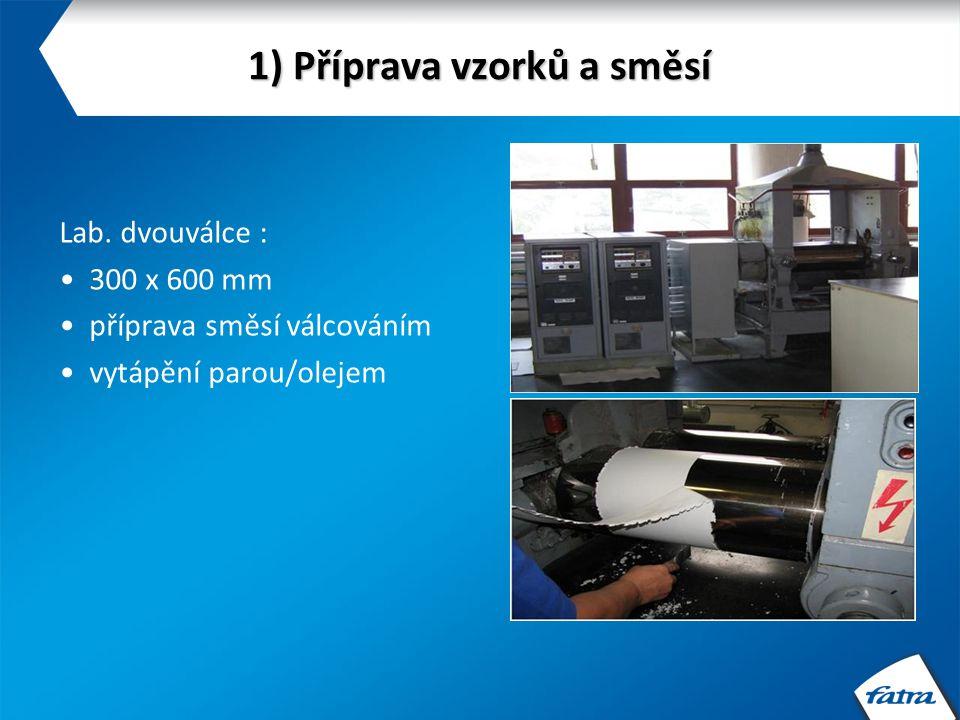 1) Příprava vzorků a směsí