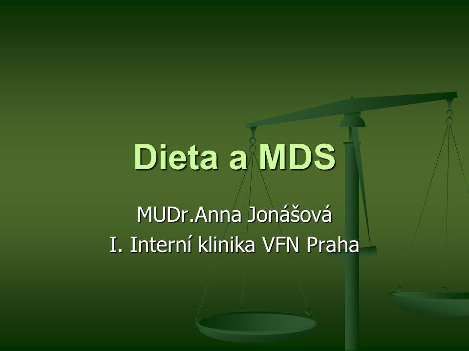 MUDr.Anna Jonášová I. Interní klinika VFN Praha