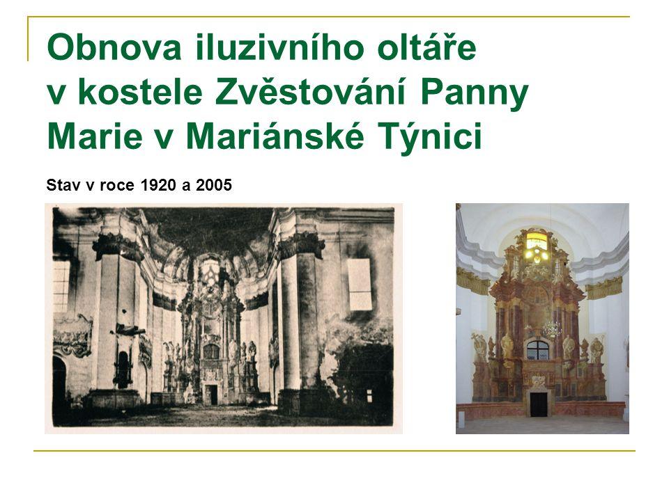 Obnova iluzivního oltáře v kostele Zvěstování Panny Marie v Mariánské Týnici