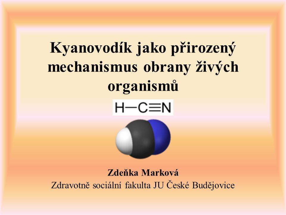 Kyanovodík jako přirozený mechanismus obrany živých organismů