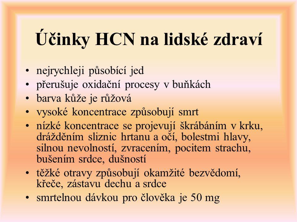 Účinky HCN na lidské zdraví