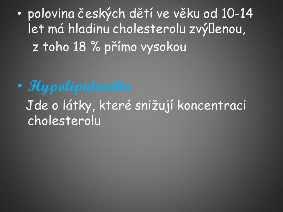 polovina českých dětí ve věku od 10-14 let má hladinu cholesterolu zvýšenou,