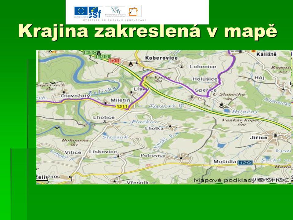Krajina zakreslená v mapě