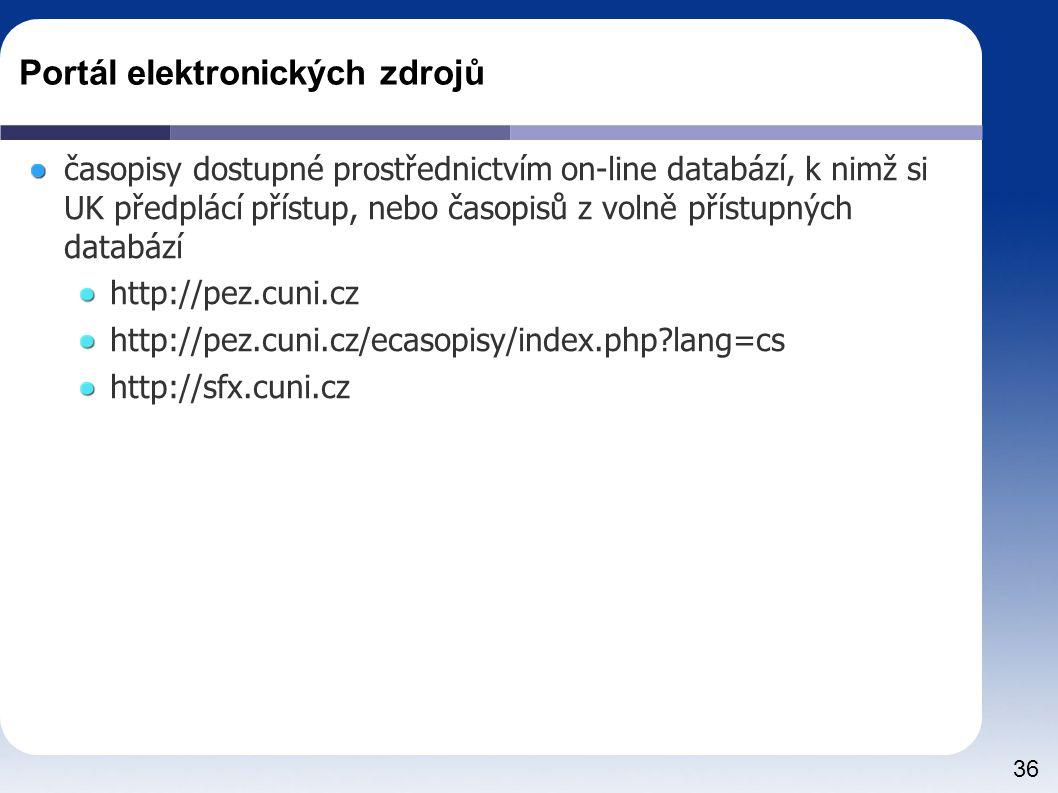 Portál elektronických zdrojů