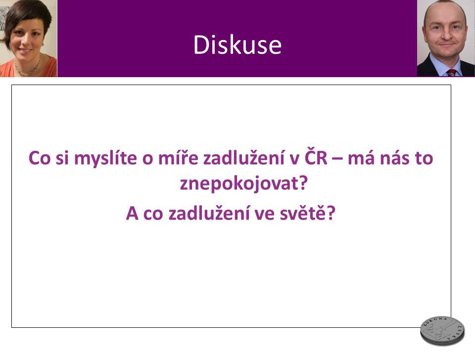 Diskuse Co si myslíte o míře zadlužení v ČR – má nás to znepokojovat A co zadlužení ve světě