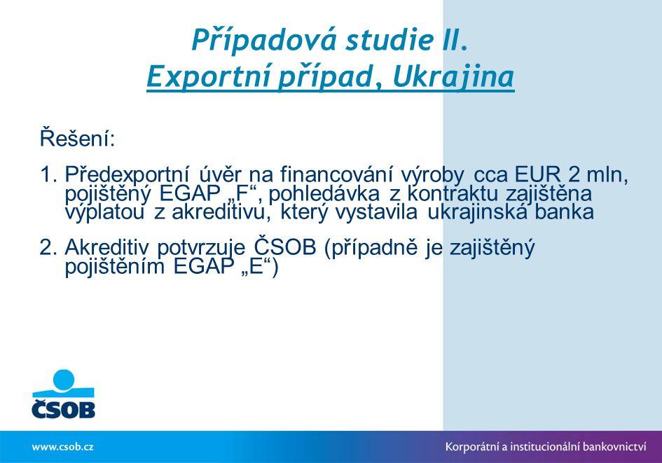 Případová studie II. Exportní případ, Ukrajina