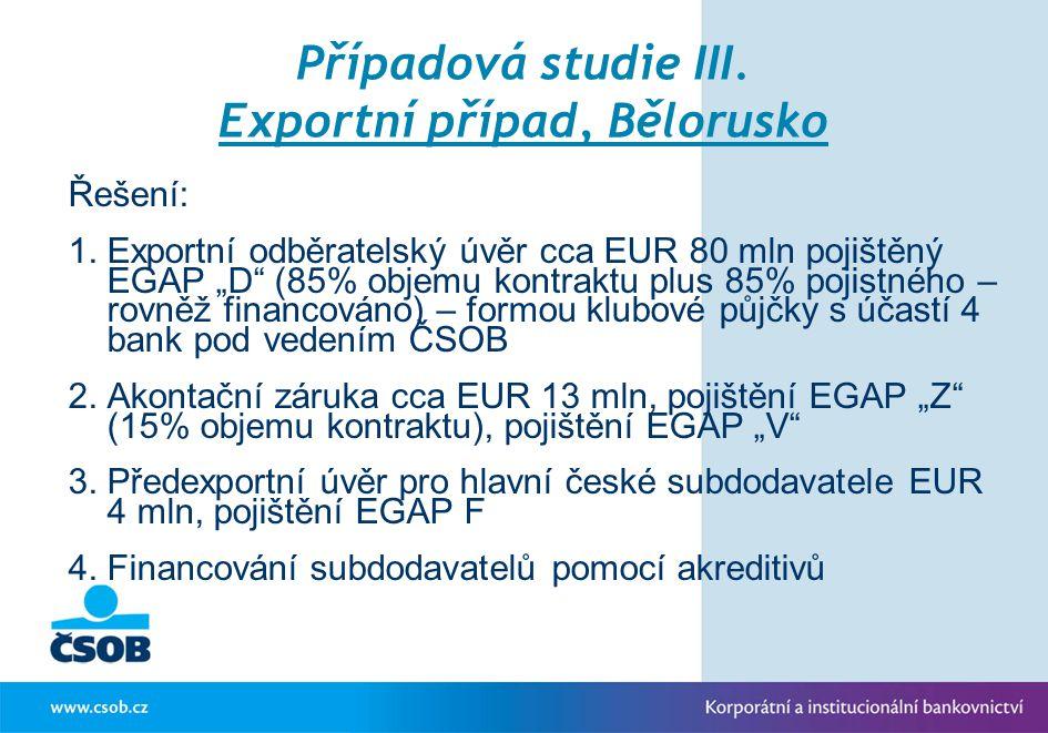 Případová studie III. Exportní případ, Bělorusko