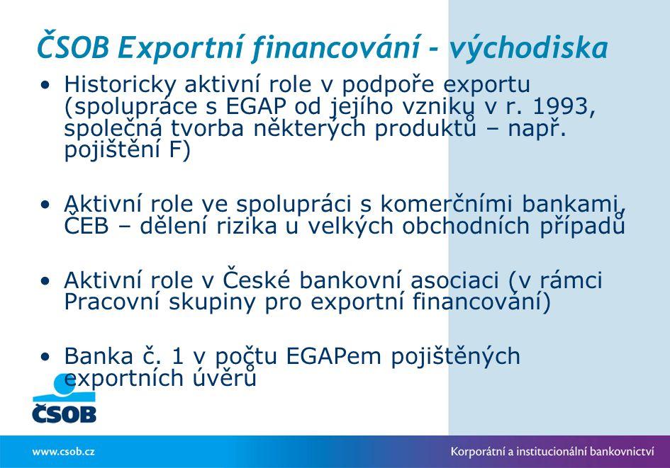 ČSOB Exportní financování - východiska