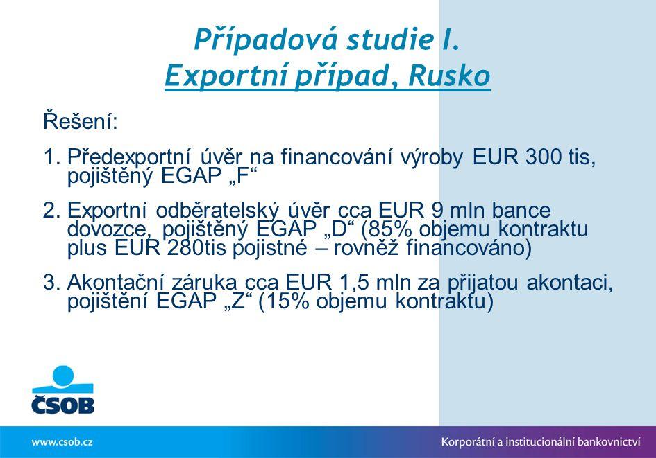 Případová studie I. Exportní případ, Rusko