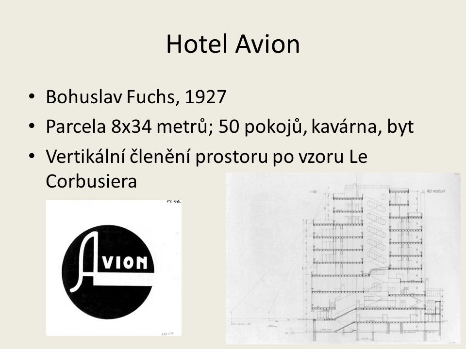 Hotel Avion Bohuslav Fuchs, 1927