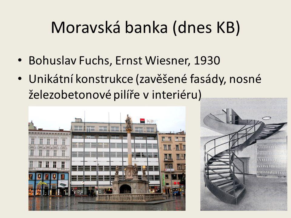Moravská banka (dnes KB)