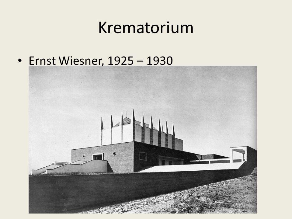 Krematorium Ernst Wiesner, 1925 – 1930