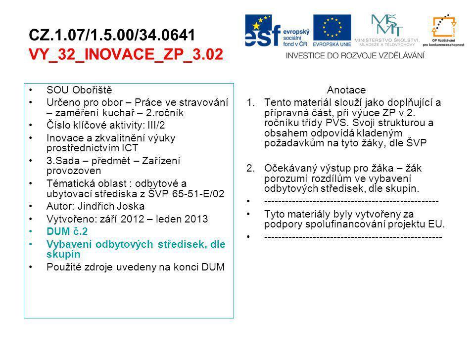 CZ.1.07/1.5.00/34.0641 VY_32_INOVACE_ZP_3.02 SOU Obořiště