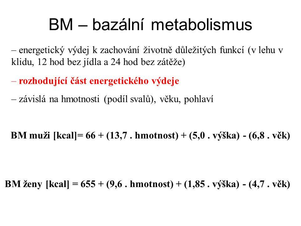 BM – bazální metabolismus