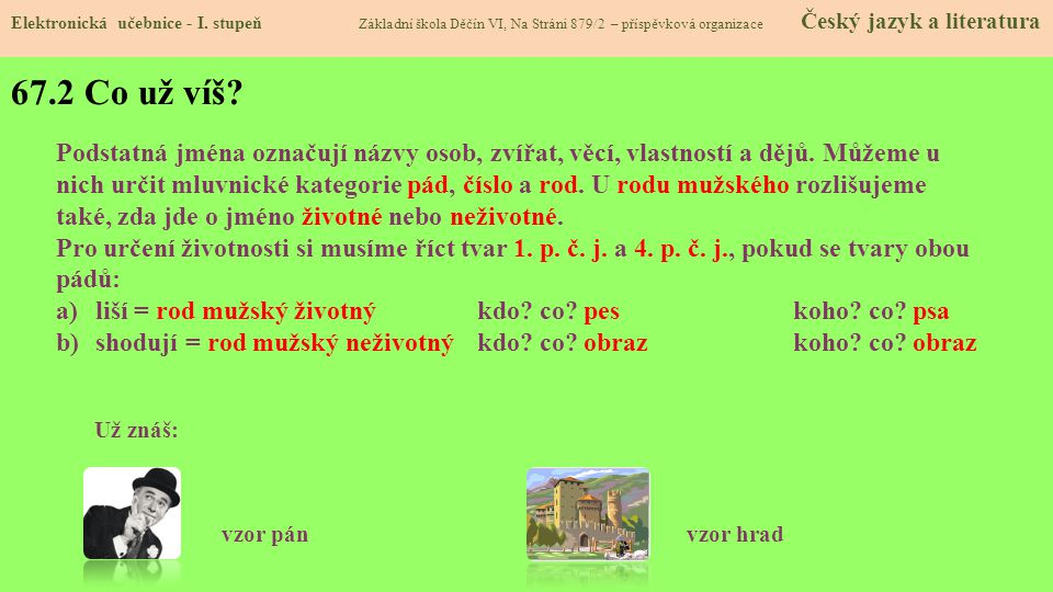 Elektronická učebnice - Základní škola Děčín VI, Na Stráni 879/2, příspěvková organizace