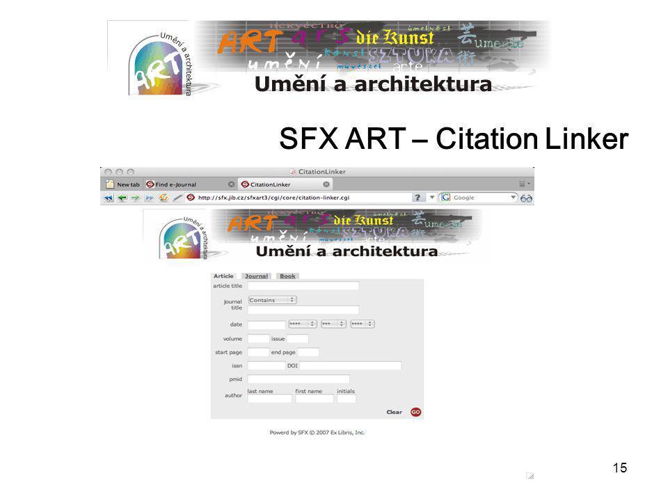SFX ART – Citation Linker