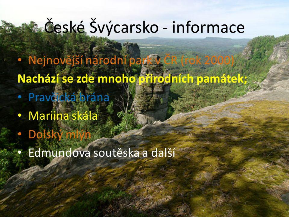 České Švýcarsko - informace