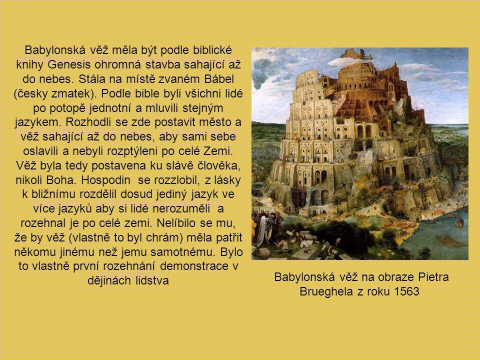 Babylonská věž na obraze Pietra Brueghela z roku 1563