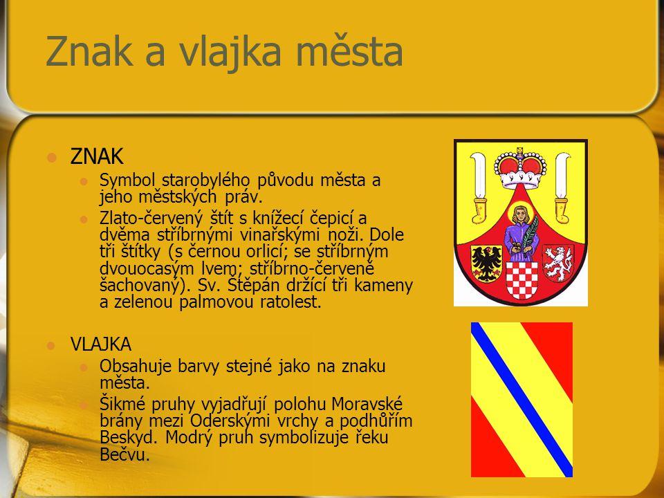 Znak a vlajka města ZNAK VLAJKA