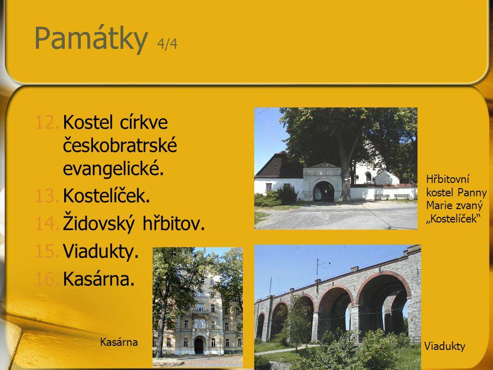 Památky 4/4 Kostel církve českobratrské evangelické. Kostelíček.