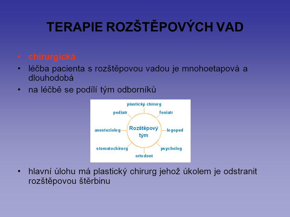 TERAPIE ROZŠTĚPOVÝCH VAD