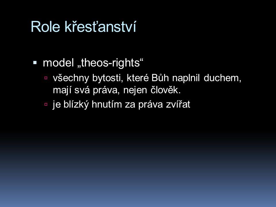 """Role křesťanství model """"theos-rights"""