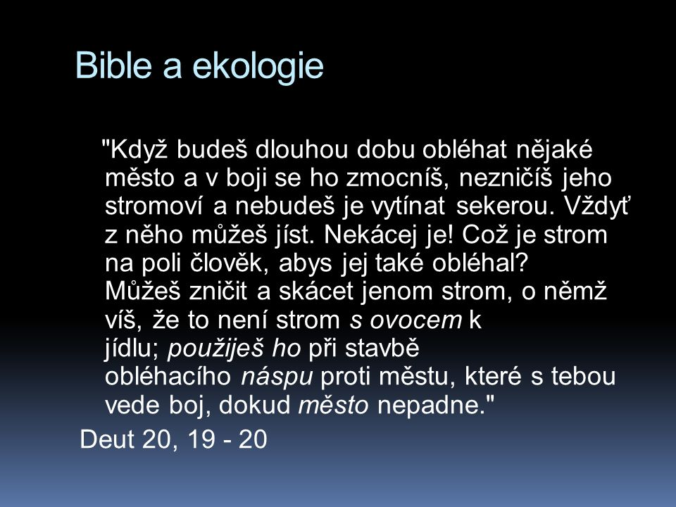 Bible a ekologie