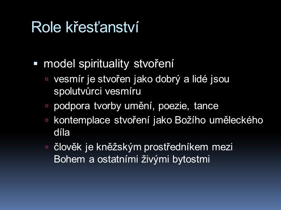 Role křesťanství model spirituality stvoření