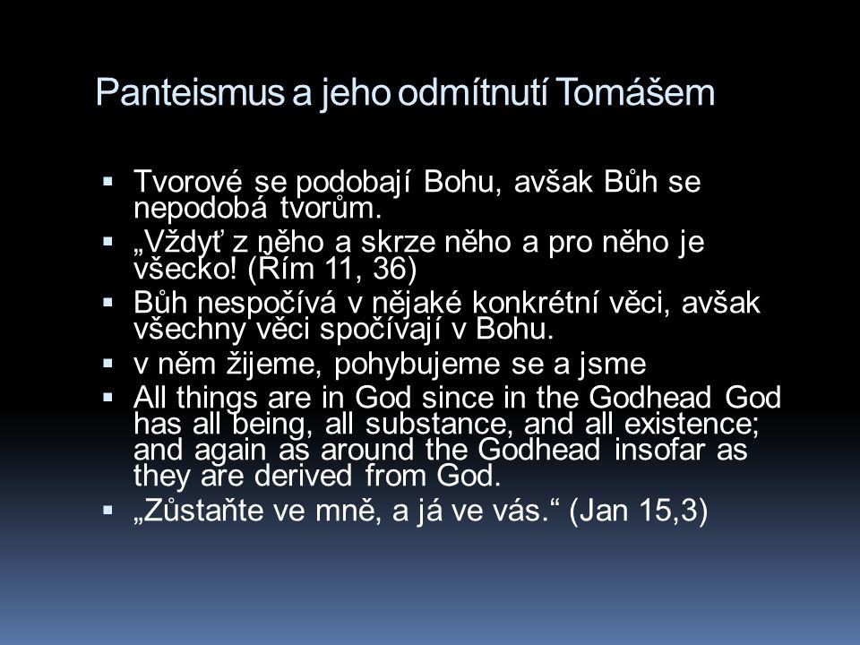 Panteismus a jeho odmítnutí Tomášem