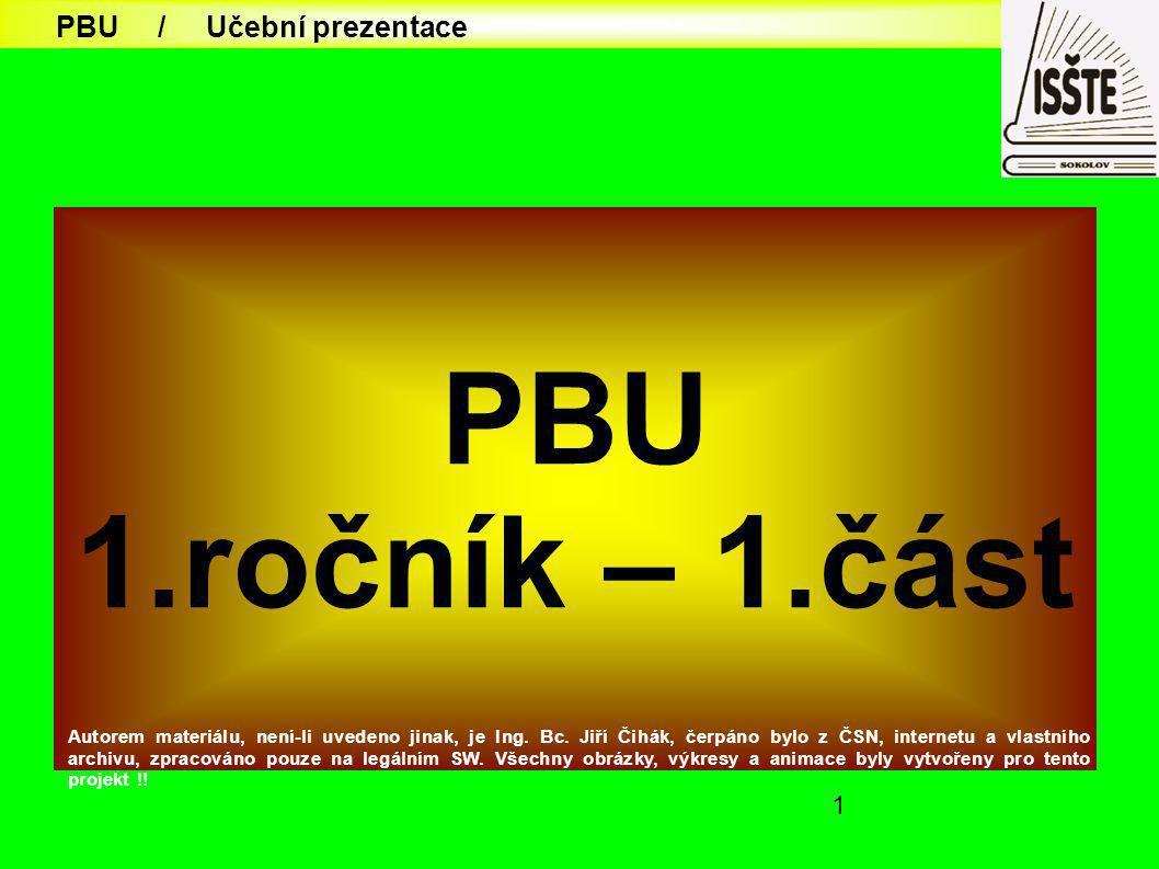 PBU 1.ročník – 1.část PBU / Učební prezentace