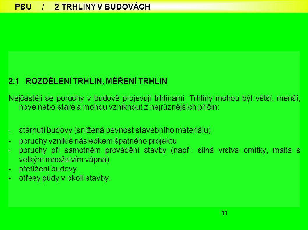 PBU / 2 TRHLINY V BUDOVÁCH