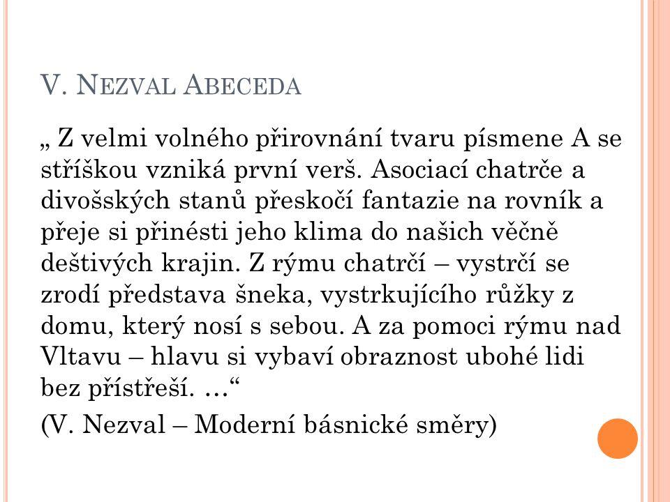 V. Nezval Abeceda
