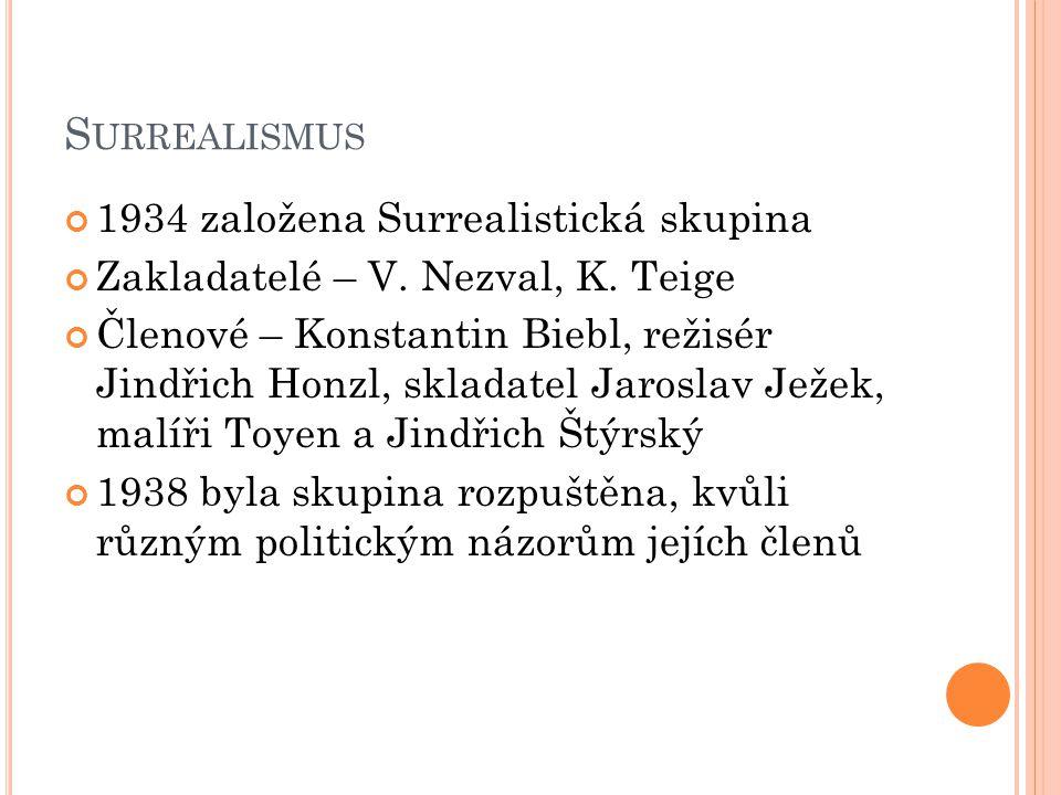Surrealismus 1934 založena Surrealistická skupina