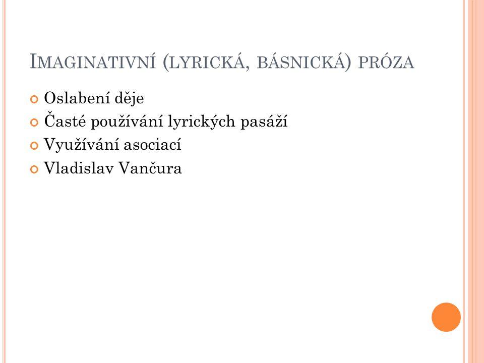 Imaginativní (lyrická, básnická) próza