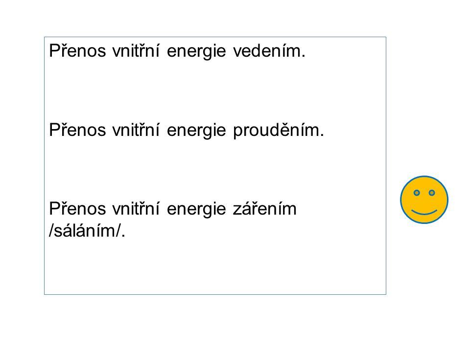 Přenos vnitřní energie vedením.
