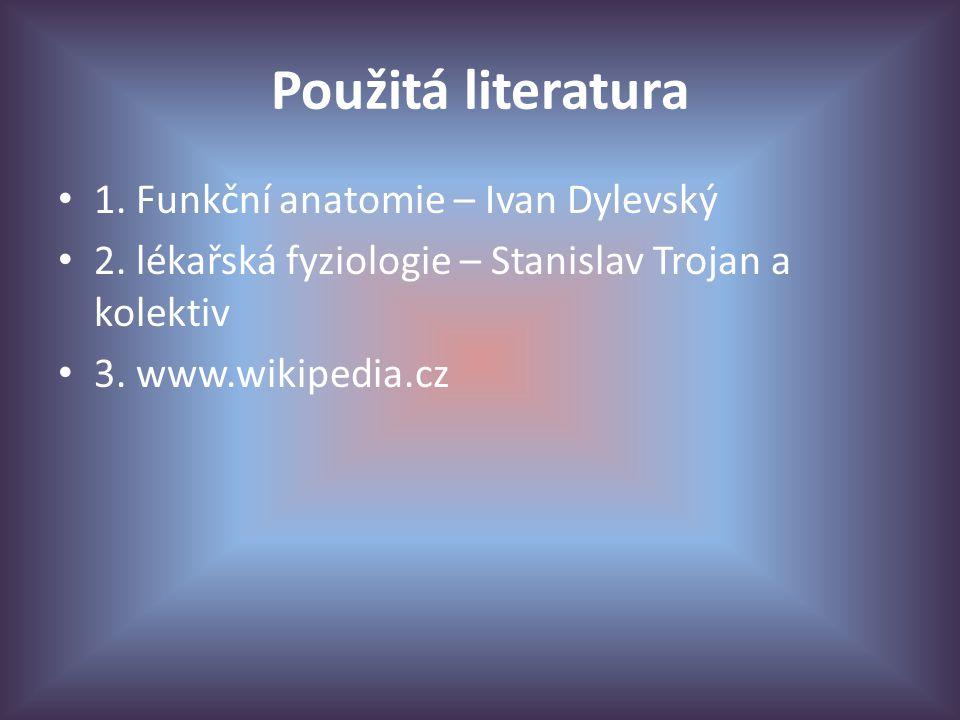 Použitá literatura 1. Funkční anatomie – Ivan Dylevský