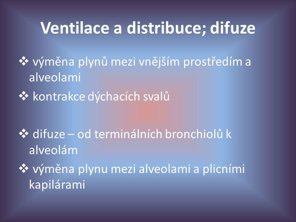 Ventilace a distribuce; difuze