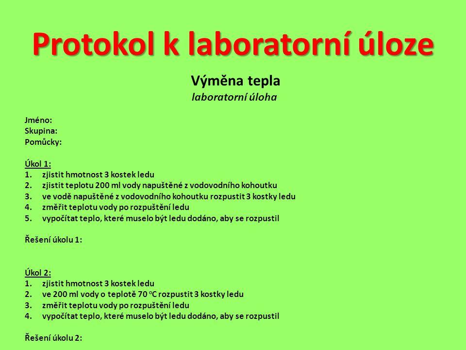 Protokol k laboratorní úloze