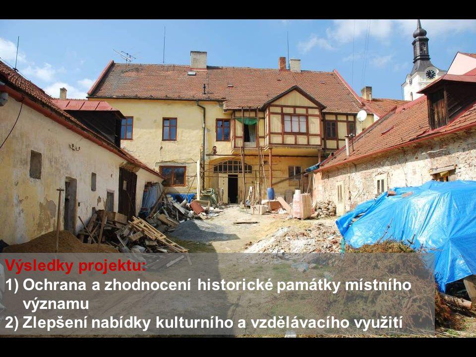Výsledky projektu: Ochrana a zhodnocení historické památky místního významu.