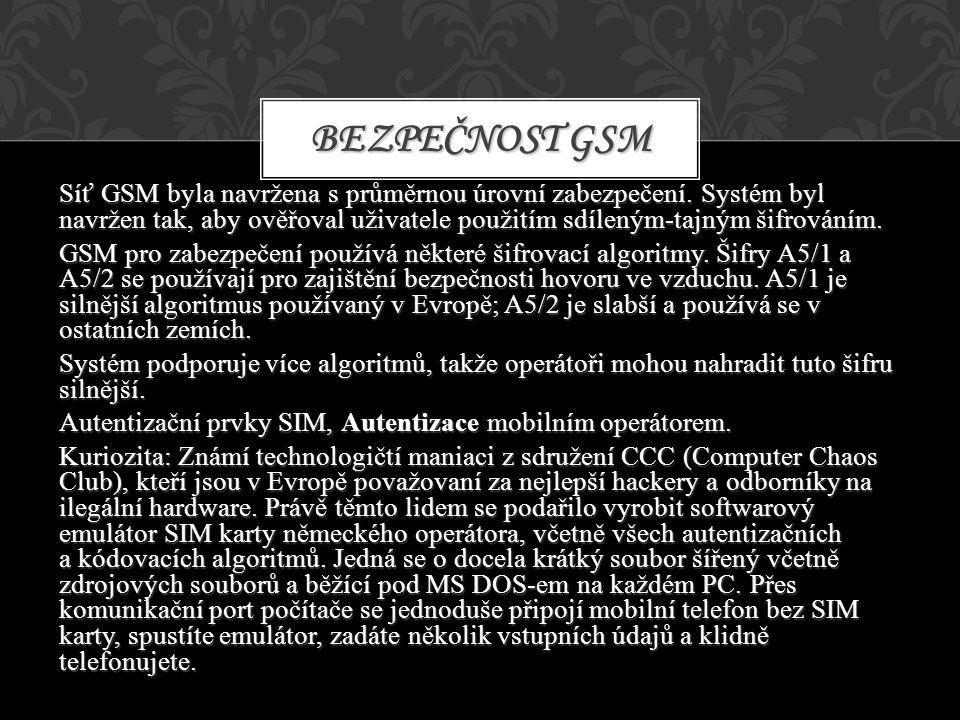 Bezpečnost GSM
