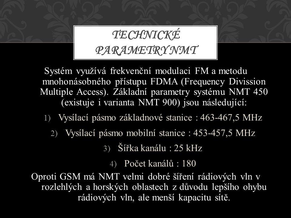 Technické parametry NMT
