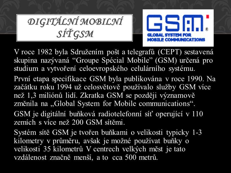 Digitální mobilní síť GSM