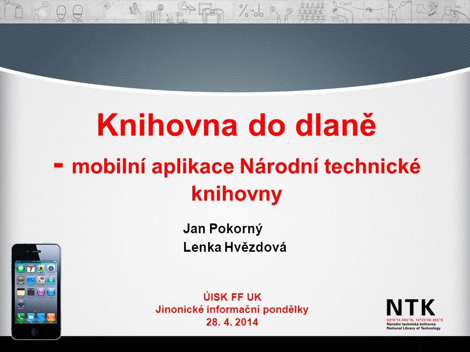 Knihovna do dlaně - mobilní aplikace Národní technické knihovny