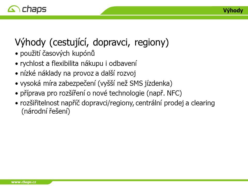 Výhody (cestující, dopravci, regiony)