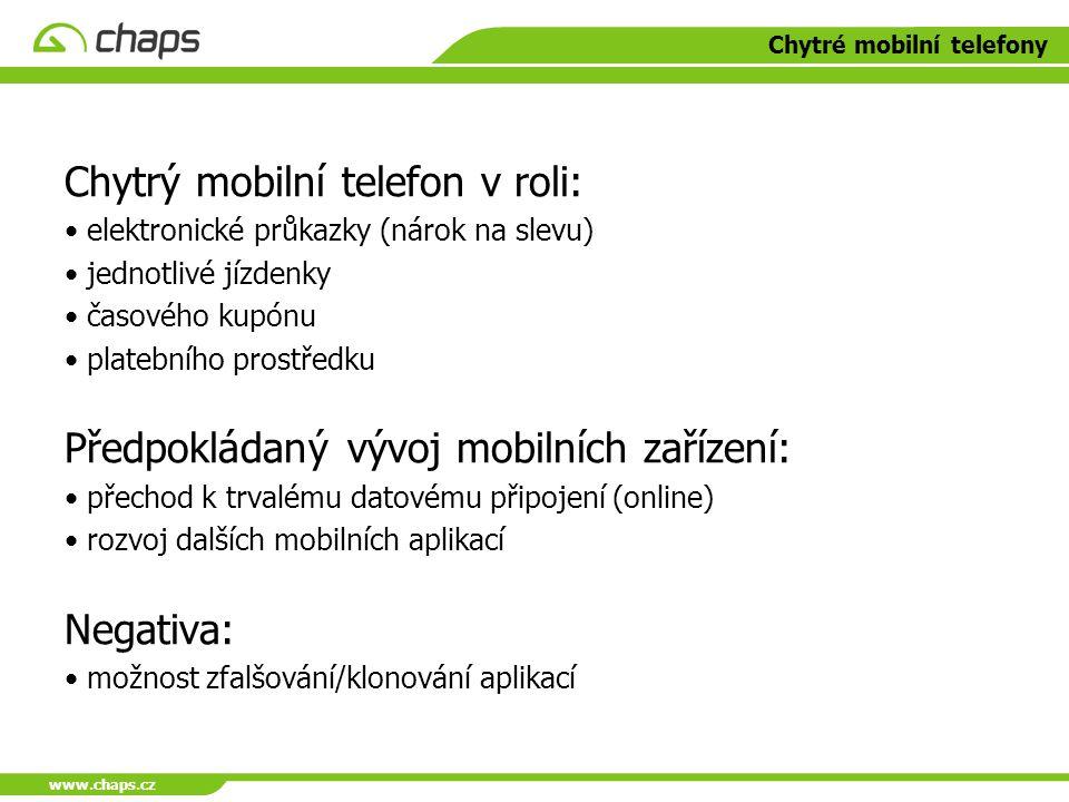Chytré mobilní telefony