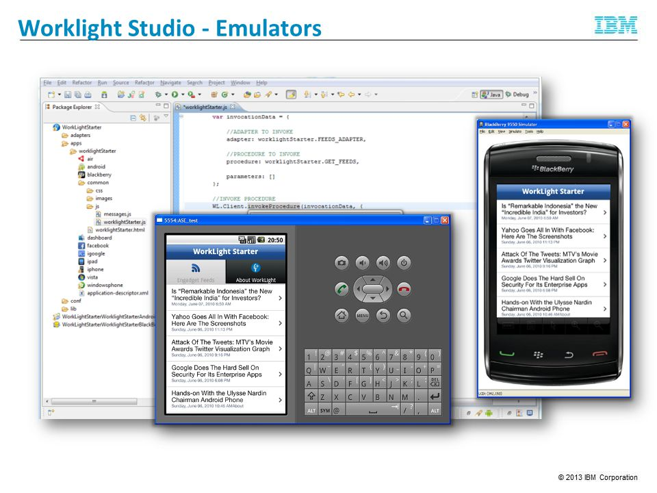 Worklight Studio - Emulators