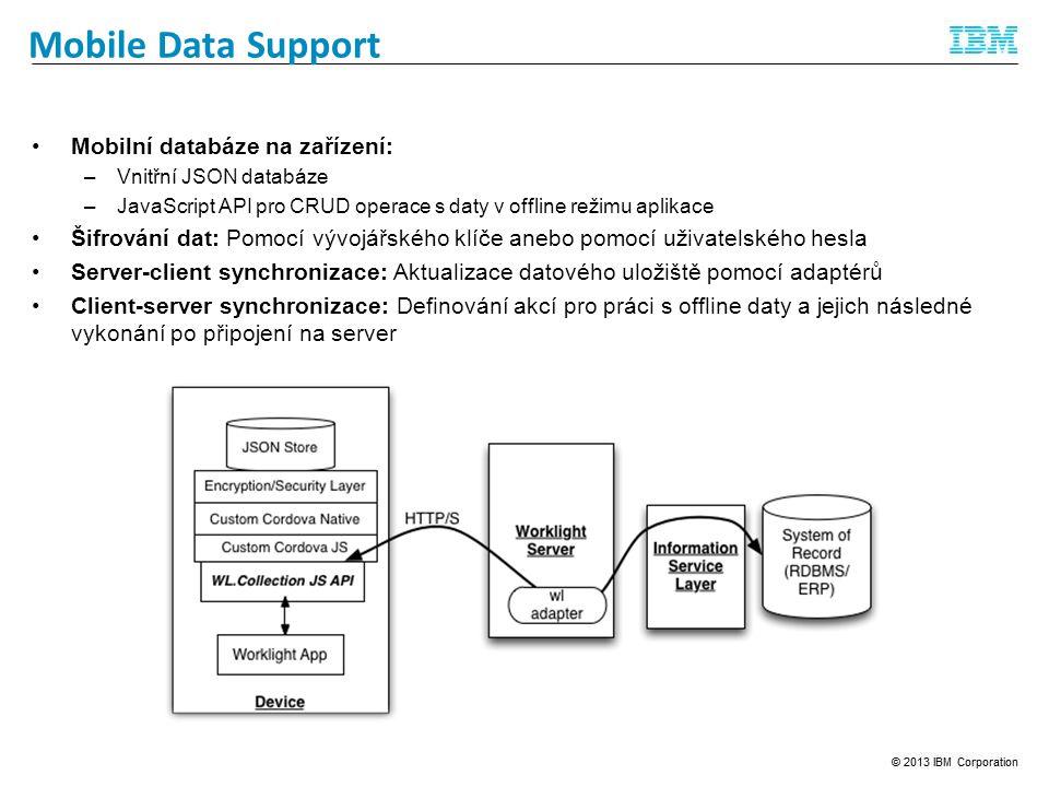 Mobile Data Support Mobilní databáze na zařízení: