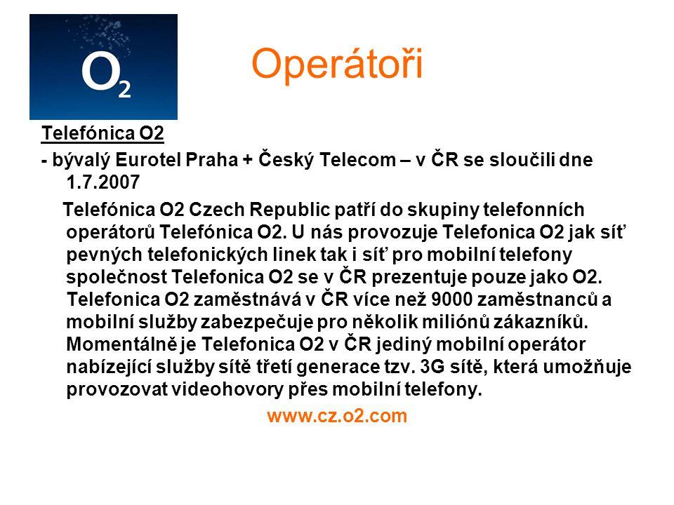 Operátoři Telefónica O2