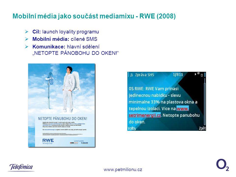 Mobilní média jako součást mediamixu - RWE (2008)